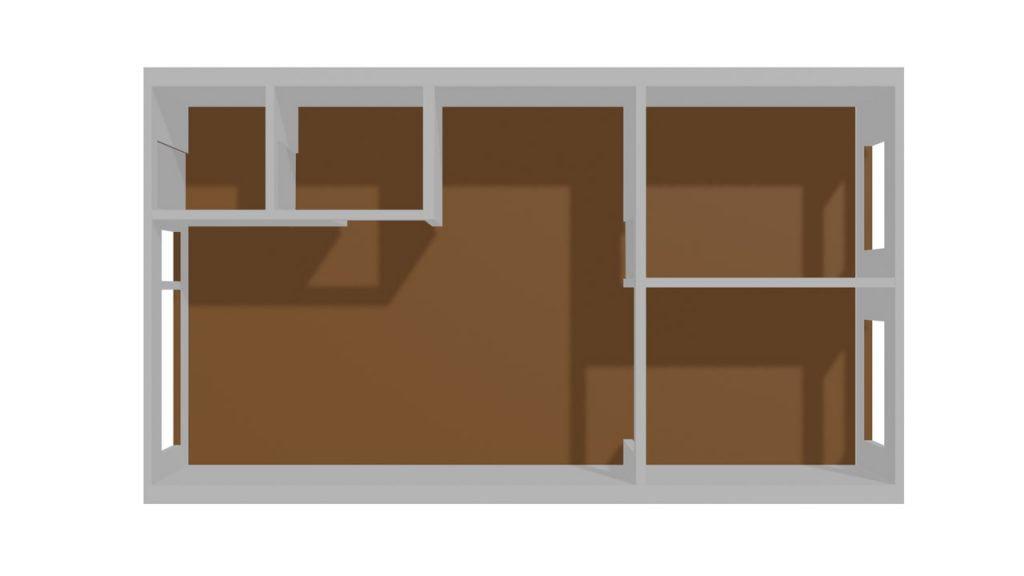 3D-model WIP of apartment